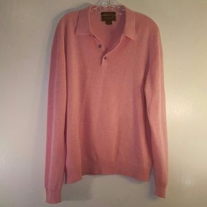 100% fine cashmere salmon color